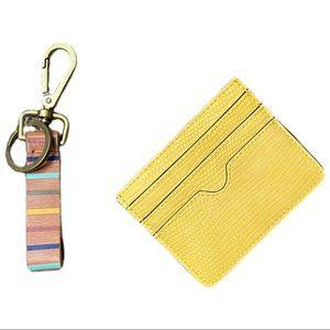 ANTHROPOLOGIE Boho Striped Key Chain & Card Holder
